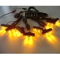 Blitzlys orange med 8 lamper + fjernbetjening