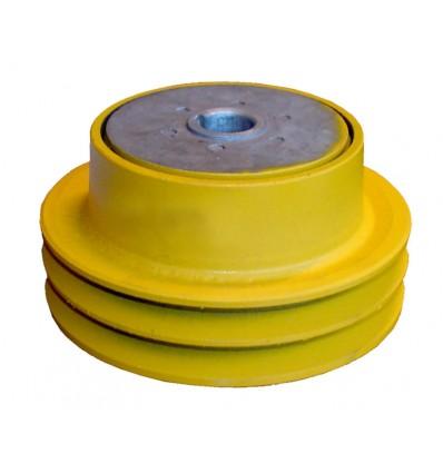 Slyngkobling t/dobbelt kilerem 25 mm hul - diameter 143 mm