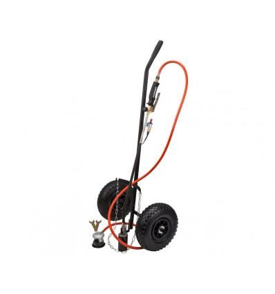 Ukrudtsbrænder m/vogn, regulator og slange