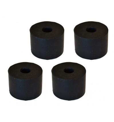Gummiklodser - 4 stk. inkl. bolte