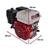 6,5 hk benzinmotor - 19 mm aksel