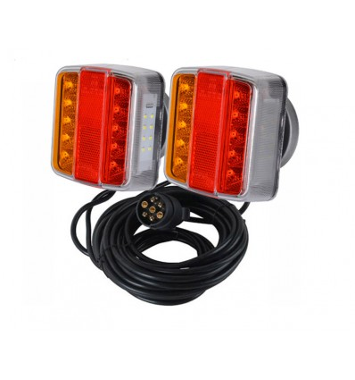 Magnetisk baglygtesæt - med LED lys