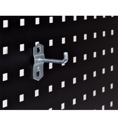 Krog - enkelt - 43 mm - til hulplade (10 x 10 mm) + værkstedsvogn