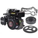 Go-kart start kit 2,5 hk motor + slyngkobling + kæde