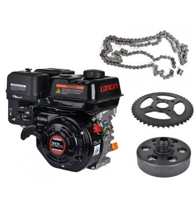 Go-kart start kit 5,5 hk motor + slyngkobling + kæde