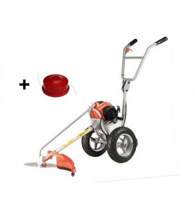 Græstrimmer på hjul - 43 cc - med elstart