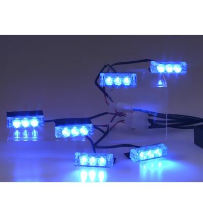 Blitzlys blå 50x15 mm - 6 stk.