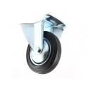 Transporthjul ø160 mm hård gummi - fast fod