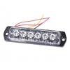 Blitzlys 6 x 3 watt - ekstra lav model