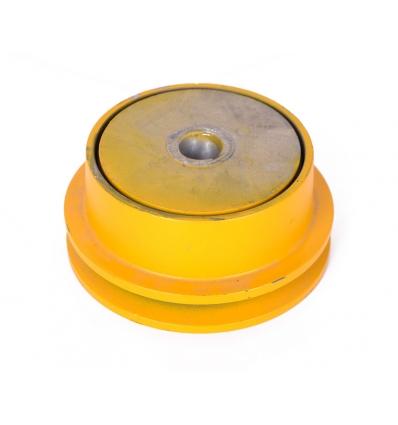 Slyngkobling t/enkelt kilerem - 19 mm aksel - diam. 125 mm