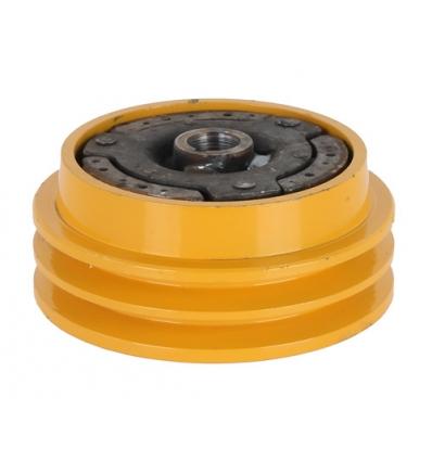Slyngkobling t/dobbelt kilerem 20 mm hul - diameter 140 mm