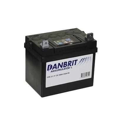 Batteri 12 volt 28 Ah til havetraktor + polvendt