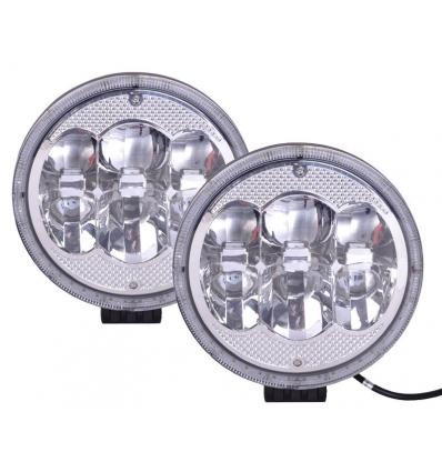 Projektør/kørelys med LED-ring - 2 stk
