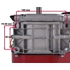 6,5 hk benzinmotor 19 mm aksel m/elstart.