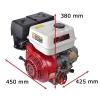 9 hk benzinmotor 22,2 mm med oliekobling + elstart