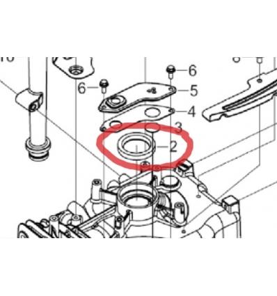 Simmerring til 13 hk Rato motor