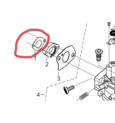 Pakning til luftindtag til 13 hk Rato motor
