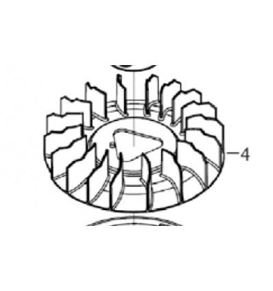 Blæsehjul/propel til 13 hk Rato motor