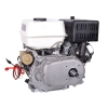 6,5 hk benzinmotor 20 mm aksel, elstart og oliekobling