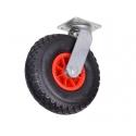 Transporthjul m/luft - drejefod