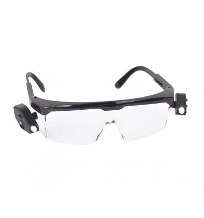 Sikkerhedsbriller med lys