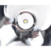 Proff. håndlampe / lommelygte med stor parabol