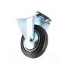 Transporthjul ø100 mm i hård gummi - fast fod