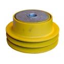 Slyngkobling dobbelt kilerem - 2 spor - 25,4 mm hul - diameter 143 mm