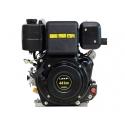 Dieselmotor 10 hk med forvarme + elstart 25,4 aksel