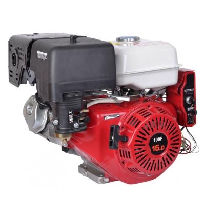 15 hk benzinmotor med 25,4 mm aksel og elstart