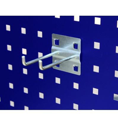 Krog - dobbelt - kort - til hulplade (10 x 10 mm)