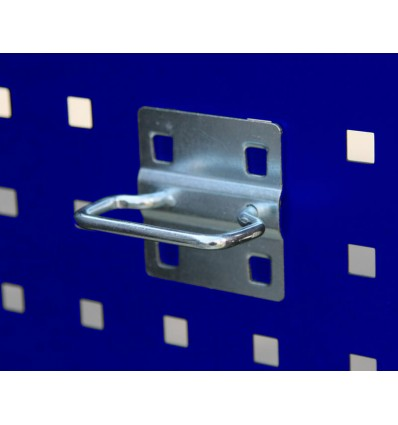 Krog - dobbelt - lang - til hulplade (10 x 10 mm)