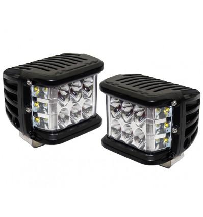 Arbejdslampe 27 watt med CREE LED og sidelys