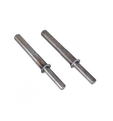 Aksler 2 stk. til pladevibrator - uden hjul