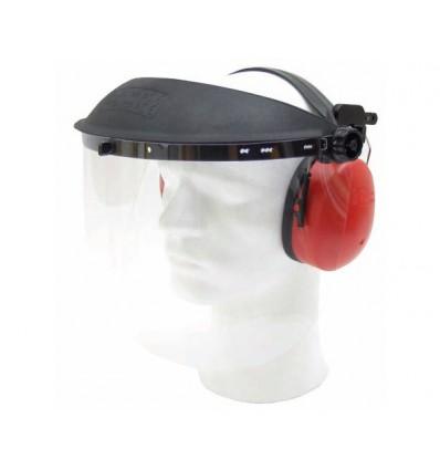Beskyttelsesskærm med høreværn