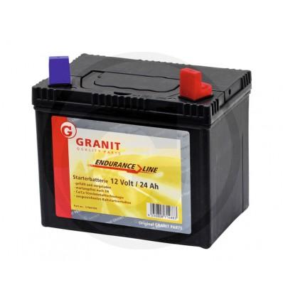 Splitter nya Batteri 12 volt 24 Ah til havetraktor mm DW-08