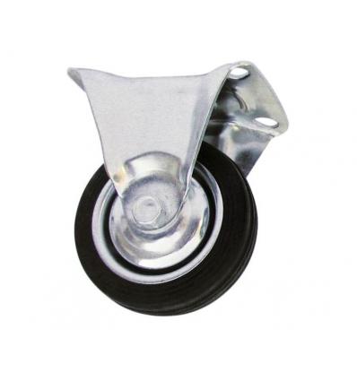 Transporthjul ø 75 mm hård gummi