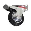 Transporthjul ø 75 mm hård gummi m/lås og drejefod