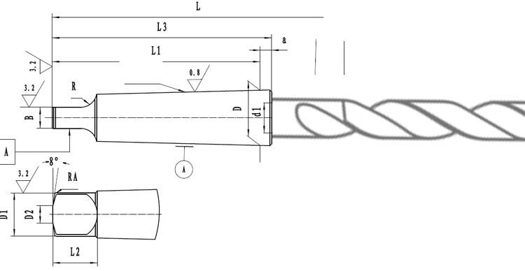 Morsekonus tegning